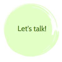 Okrągła plamka z napisem: Let's talk!